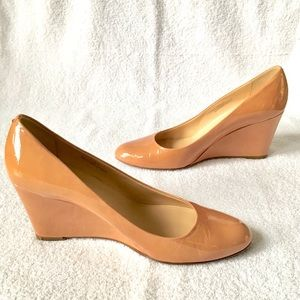 J. Crew Shoes - J.Crew Martina Patent Wedge Nude Heels